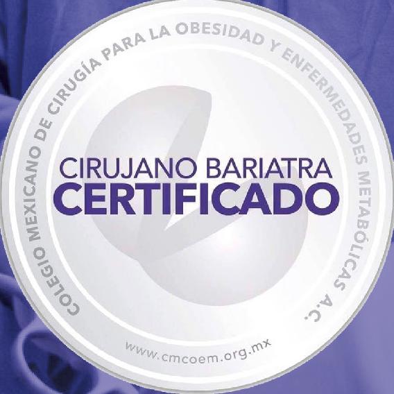 Certificado Cirujano Bariatra